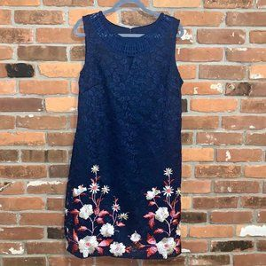 Dress Barn Lace Floral Embroidered Sheath Dress 16